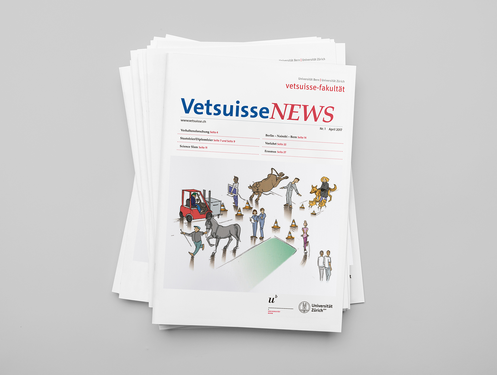 Editorial Design für die Vetsuisse NEWS